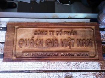 Biển Công ty khắc gỗ